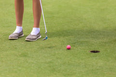 Low section of female golf player Royalty Free Stock Images
