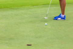 Low section of female golf player Royalty Free Stock Image