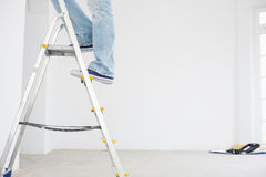 Low section of man on ladder Royalty Free Stock Photography