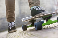 Low Section Of Man Skateboarding Royalty Free Stock Image