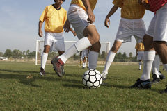 Low Section Of Soccer Game Stock Photos