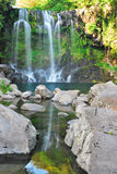Low shot of majestic waterfall Royalty Free Stock Photography