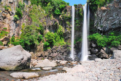 Low shot of majestic waterfall Stock Image