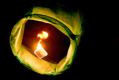 Low shot of a paper lantern Royalty Free Stock Photography