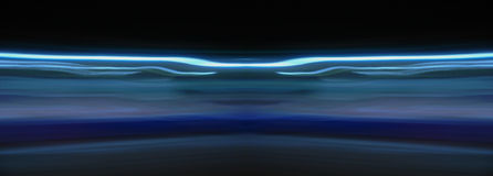 Low speed shutter blue light Royalty Free Stock Image