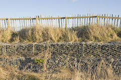 Low-stacked gabions Stock Photo