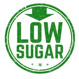 Low sugar sign or stamp royalty free stock photography