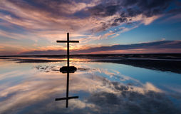 Low Sun Cross Waters Royalty Free Stock Photography