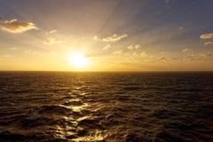 Low Sun on Ocean Stock Image