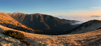 Low Tatras with the inversion Stock Image