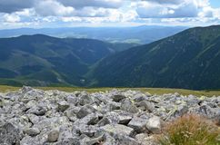 Low tatras mountain. Beautiful view of low tatras mountains in slovakia Stock Images