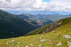 Low tatras mountains. Beautiful view of low tatras mountains in slovakia stock photography