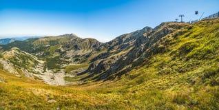 Low Tatras National Park Mountain Ridge with Lift Royalty Free Stock Photography