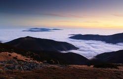 Low Tatras after sunset Royalty Free Stock Photos