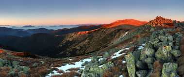 Low Tatras in sunset - Durkova peak Stock Photography