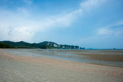Low tide at Ao Nang beach Royalty Free Stock Image