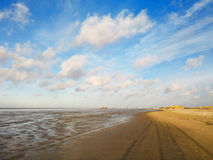 Low tide in autumn sun at the north sea coast Stock Photo