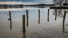 Low tide at Bar Harbor on the Bush River Abingdon MD stock footage