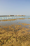 Low tide in the bay of Cadiz Royalty Free Stock Photo