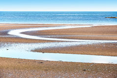 Low tide on the beach in Northern Ireland Royalty Free Stock Photos