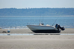 Low tide boat Royalty Free Stock Images