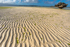 Low tide at Boracay island White Beach of Phils Royalty Free Stock Image