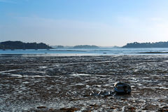 Low tide in brittany coast Stock Photo
