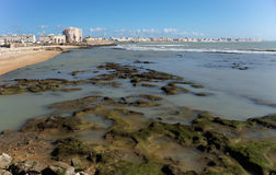 Low tide at Cadiz, Spain Stock Photography