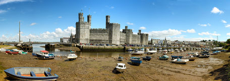 Low tide at Caernarfon Stock Image