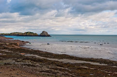Low tide in Cancale, France Stock Images