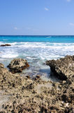 Low tide in cancun Stock Image
