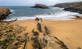 Low tide in the Cantabrian Sea Royalty Free Stock Images