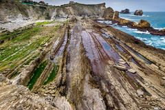 Low tide in the Cantabrian Sea Stock Images