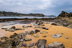 Low tide in the Cantabrian Sea Stock Photos