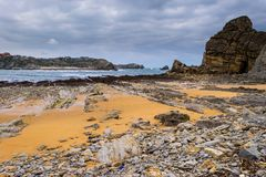 Low tide in the Cantabrian Sea Stock Photography