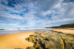 Low tide in the Cantabrian Sea Royalty Free Stock Image