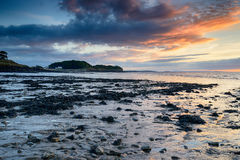 Low Tide at Clevedon. Beach on the Somerset coast royalty free stock photo
