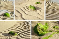 Low Tide collage Stock Photo