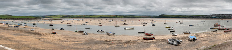 Low tide in Cornwall Royalty Free Stock Photos