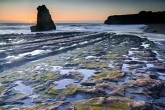 Low Tide at Davenport Crack. Royalty Free Stock Photo