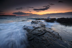 Low tide dawn at Warriewood Royalty Free Stock Images