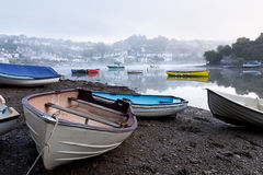 Low Tide in a Devon Harbour Royalty Free Stock Photo