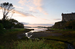 Low Tide at Dunvegan Castle in Scotland Stock Photos