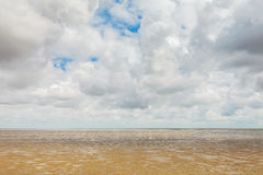 Low tide at the Dutch Wadden Islands Stock Photography