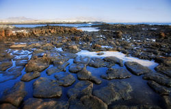 Low tide on the edge of El Cotillo, Fuerteventura Royalty Free Stock Photography