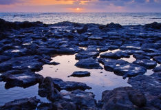 Low tide on the edge of El Cotillo, Fuerteventura Stock Photos