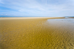 Low tide on English Channel coast Stock Photo