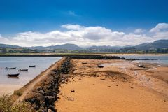 Low tide in the estuary. Low tide in the estuaries of Asturias Stock Images