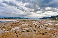 Low Tide at Estuary Stock Photo