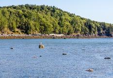 Low Tide by Green Maine Coast. Near Bar Harbor Royalty Free Stock Photo